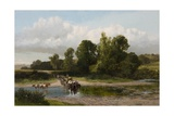 A Ford on the Whitadder, Berwickshire Giclee Print by James Peel