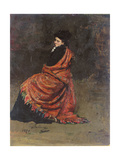 Study for 'A Parisian Cafe' (1875): a Woman Seated, 1874 Giclee Print by Ilya Efimovich Repin