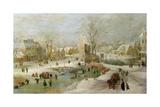 Winter Scene in Holland Giclée-Druck von Jan Brueghel the Elder
