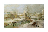 Winter Scene in Holland Giclee Print by Jan Brueghel the Elder