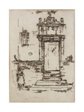 Chapel Doorway, Montresor, 1888 Giclee Print by James Abbott McNeill Whistler