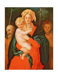 The Virgin and Child with St. Joseph and John the Baptist, 1521-27 (See also 80193) Giclée-tryk af Jacopo Pontormo