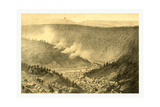Bird's Eye View Showing Mauch Chunk Giclee Print by James Queen