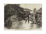 Sketches in Braemar, Fly-Fishing on the Cluny Giclee Print by J.M.L. Ralston