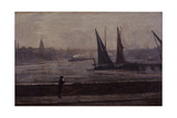 The Thames from Battersea Bridge, 1863 Giclee Print by James Abbott McNeill Whistler