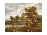 A Wooded River Landscape with a Sluice Gate Giclee Print by Jacob Isaaksz Ruisdael