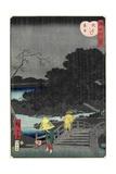 Night Rain at Makura Bridge, November 1861 Giclee Print by Hiroshige II