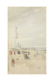Grey and Pearl: Bank Holiday Banners, 1883-84 Giclee Print by James Abbott McNeill Whistler