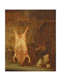Pig Slaughtering Giclee Print by Isack van Ostade