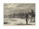 The Easter Monday Volunteer Review at Brighton, Deploying into Line Giclee Print by J.M.L. Ralston
