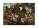Saul and the Witch of Endor, 1526 Lámina giclée por Jacob Cornelisz van Oostsanen