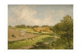 Landscape with Farm Buildings Giclee Print by James Peel