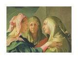 The Visitation, 1528-30 Giclée-tryk af Jacopo Pontormo
