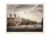 UK, London, Wharf at Westminister Bridge Giclee Print by Jacques-Laurent Agasse