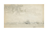 Grey and Silver - North Sea, C.1884 Giclee Print by James Abbott McNeill Whistler