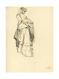 Woman in Dress from Behind, C. 1872-1875 Giclee Print by Ilya Efimovich Repin
