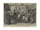A Play in a London Inn Yard in the Time of Queen Elizabeth Giclee Print by J.M.L. Ralston
