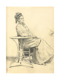 Woman Seated at a Cafe Table, C. 1872-1875 Giclee Print by Ilya Efimovich Repin