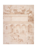 Pd.54-1997 View of the Monastery of La Verna Giclee Print by Jacopo Ligozzi