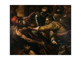 Soldiers Disputing Clothes Giclee Print by Jacopo Palma