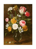 Still Life of Flowers in a Glass Vase (Panel) Giclee Print by Jan Philip Van Thielen