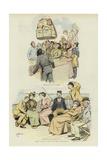 John Bull's Trip to the Continent Giclee Print by Hugh Thomson