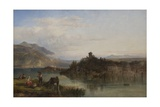 Morning on Lake Garda, Italy, 1861 Giclee Print by James Vivien de Fleury