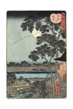 Autumn Moon over the Matsuchiyama Hill November 1861 Giclee Print by Hiroshige II