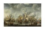 The Battle of Terheide, 1653-66 Stampa giclée di Jan Beerstraten