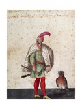 Turkish Soldier with Owl Giclee Print by Jacopo Ligozzi