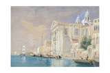 Pd.61-1958 Church of the Gesuati, Venice, 3rd September 1857 (W/C over Pencil on Paper) Giclee Print by James Holland