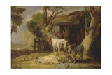 The Straw Yard, 1810 Giclee Print by James Ward