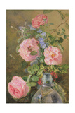 Roses, Convolvulus and Delphiniums Giclee Print by James Holland