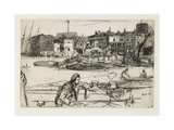 Black Lion Wharf, 1859 Giclee Print by James Abbott McNeill Whistler