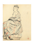 Study for 'A Parisian Cafe': Study of Dress for a Seated Woman, C. 1872-1875 Giclee Print by Ilya Efimovich Repin