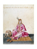 Turkish Woman with Dog, 1547-1627 Giclee Print by Jacopo Ligozzi