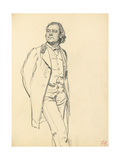 Figure of a Standing Man, C. 1872-1875 Giclee Print by Ilya Efimovich Repin