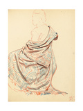 Study for 'A Parisian Cafe': Study of Dress for Seated Woman, C. 1872-1875 Giclee Print by Ilya Efimovich Repin