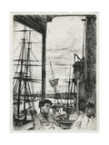 Rotherhithe from Sixteen Etchings of Scenes on the Thames and Other Subjects, 1860 Giclee Print by James Abbott McNeill Whistler