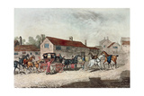 The Mail Coach Changing Horses, Engraved by R. Havell, 1815 Giclee Print by James Pollard