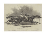 Pyrrhus the First and Sir Tatton Sykes Contending for the Derby Stakes at Epsom Giclee Print by James Herring