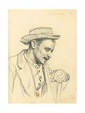 Man with a Hat in Profile, C. 1872-1875 Giclee Print by Ilya Efimovich Repin