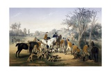 Hunting on Horseback, Spoils, by James Walker (1748-Ca 1808) Giclee Print by James Walker