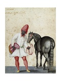 Moorish Knight and Horse Giclee Print by Jacopo Ligozzi
