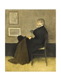 Portrait of Thomas Carlyle, C.1880 (Hand-Coloured Photogravure, on White Wove Paper) Giclee Print by James Abbott McNeill Whistler