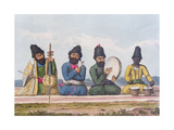 Persian Musicians from A Second Journey Through Persia 1810-16 Giclee Print by James Justinian Morier