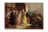 Return of Mary, Queen of Scots, to Edinburgh Giclee Print by James Drummond