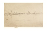 La Salute: Dawn from The Second Venice Set, 1879-1880 Giclee Print by James Abbott McNeill Whistler