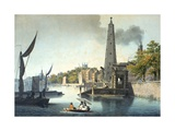 The River Thames Looking Towards Westminster with York Water Gate and the York Building Water Works Giclee Print by James Malton