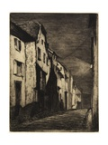 Street at Saverne from Twelve Etchings from Nature, 1858 Giclee Print by James Abbott McNeill Whistler